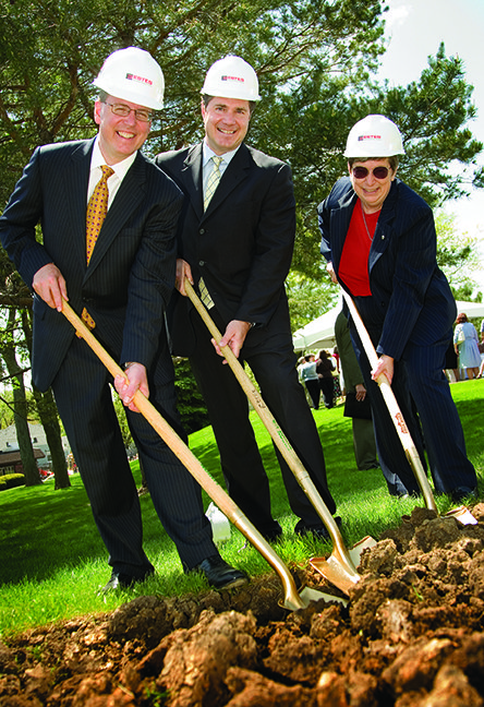Genesis and St. Ambrose University break ground for a health sciences building on the GMC-West Central Park campus. Genesis donates $3 million and land for the project, including a $1 million gift from the Genesis Foundation to establish a nursing simulation lab.
