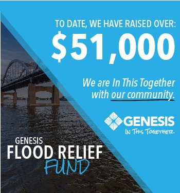 To date, Genesis has raised $51,000 towards community flood relief efforts.