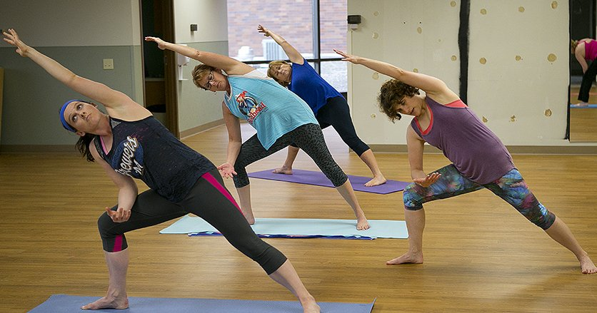 Yoga is just one of the way Genesis employees stay healthy