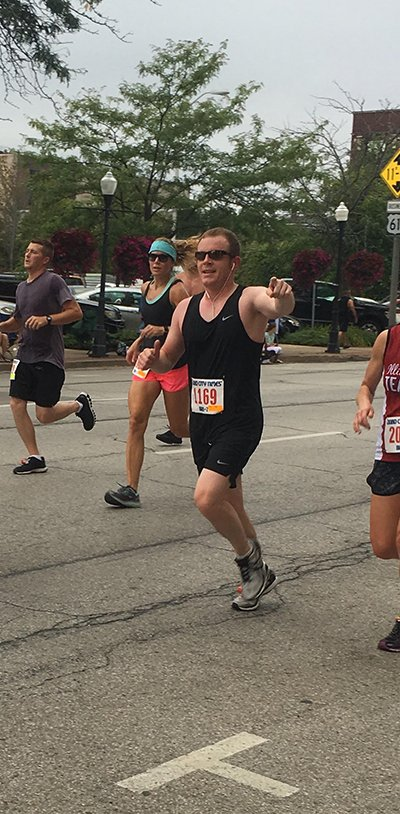 Bobby Bunch Running in the QC Times Bix 7