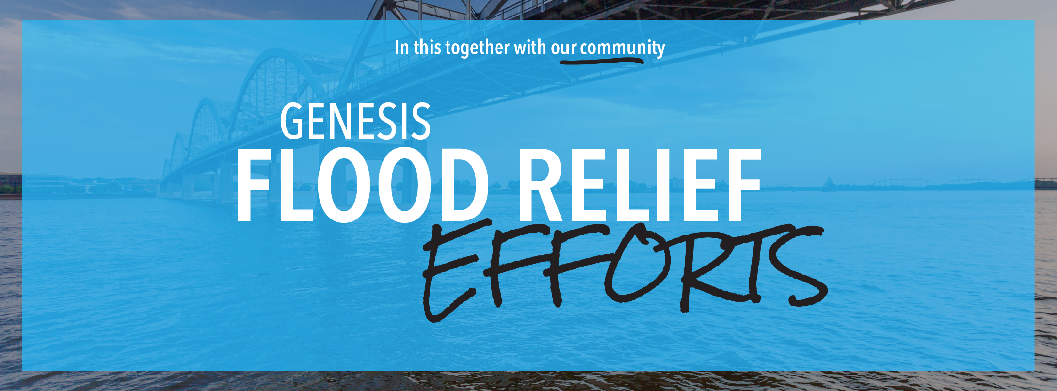 Genesis Flood Relief Efforts