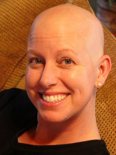 Michelle Juehring in 2006 during her cancer fight