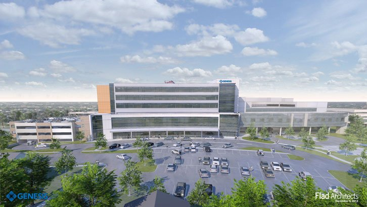 New exterior of Genesis Medical Center, East