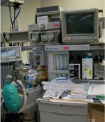 Anesthesia equipment used in the operating room