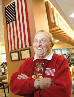 Jack Clark of Davenport had the above flag flown at the U.S. Capitol in honor of the Genesis Cardiac Rehabilitation team that twice helped him recover after heart procedures. The flag hangs at the Genesis Heart Institute, in the cardiac rehab gym.