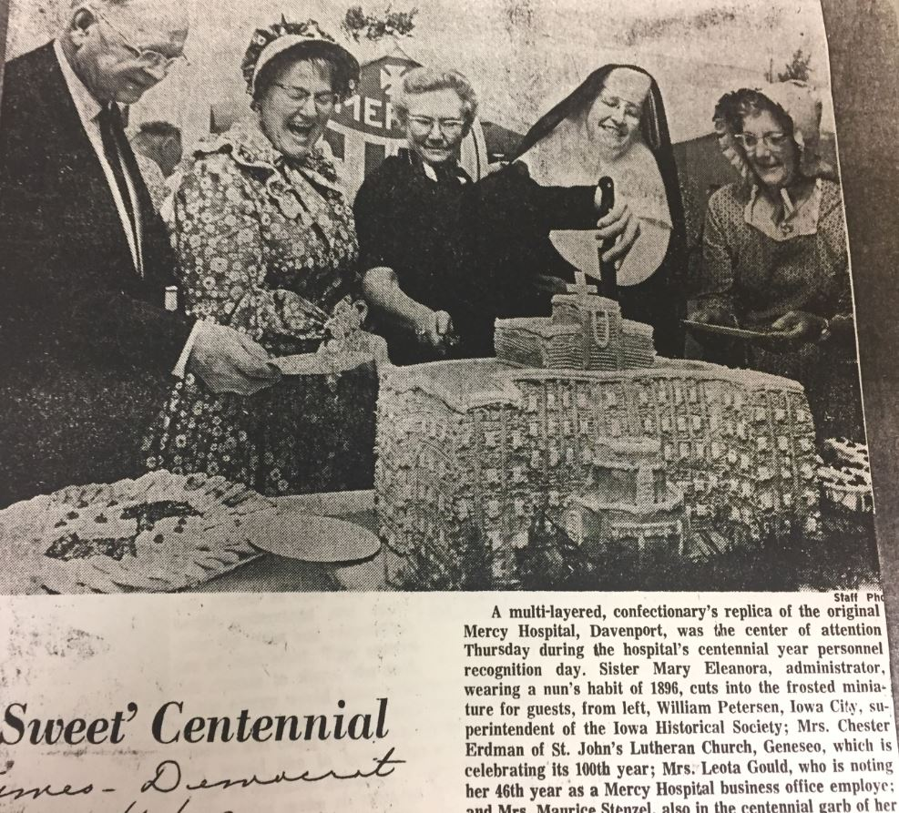"Mercy celebrates 100 years of ""sweet"" service."