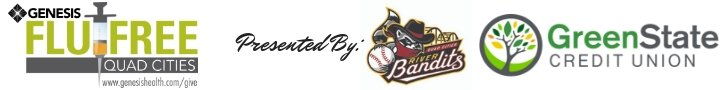 Genesis Flu-Free Quad Cities is presented by Quad City River Bandits and University of Iowa Community Credit Union