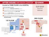 Infusion Center after hours map.