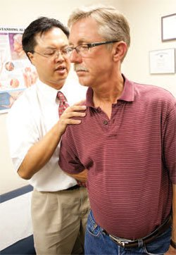 Tim Ayers and Dr. Chin