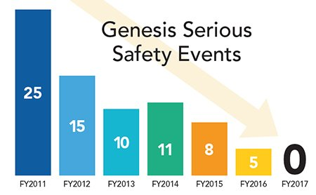 Genesis Serious Safety Events from FY2011 to FY2017