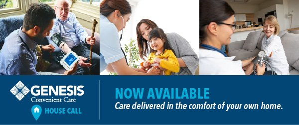 Genesis Convenient Care, House Call | Care delivered in the comfort of your home.